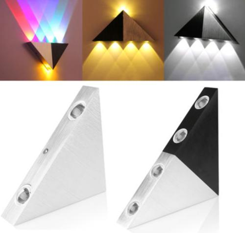 Modern Triangle 3W LED Wall Sconce Light Fixture Indoor Hall