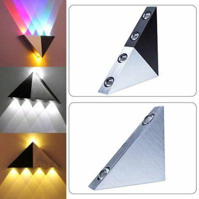 Modern Triangle 5W/3W LED Wall Sconce Light Fixture Indoor H