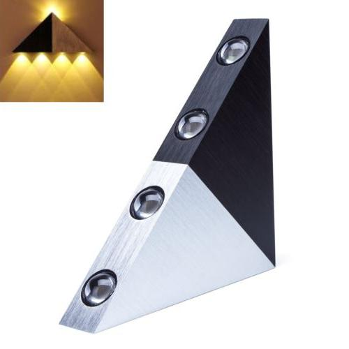 Modern Triangle 5W LED Wall Sconce Light Fixture Indoor Wall