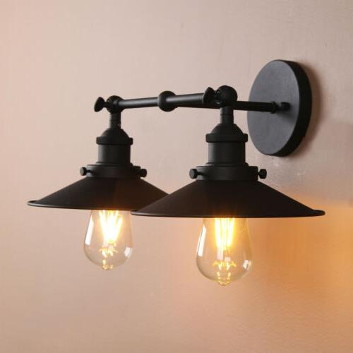 MODERN VINTAGE WALL LIGHT WALL DOUBLE ARMS RUSTIC