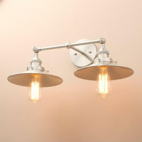MODERN LIGHT IRON WALL DOUBLE ARMS