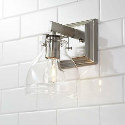 modern wall light sconce brushed nickel 9