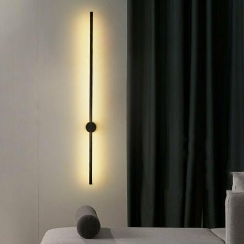 Modern LED Linear Wall Light Long Strip Wall Lamp Sconce Bed