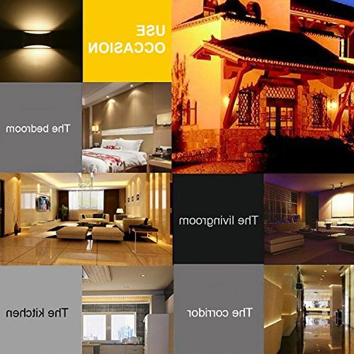 Modern LED Lighting 7W Warm White 2700K Up and Down Plaster Wall Living Room Hallway