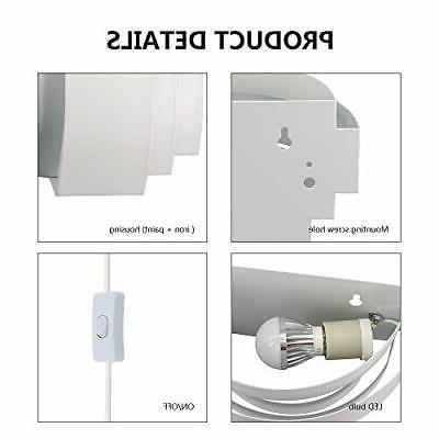 Lightess Modern Plug in Up Down Wall 6W Wall Lamp for Hall