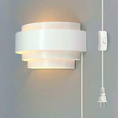 modern wall sconce plug in up down