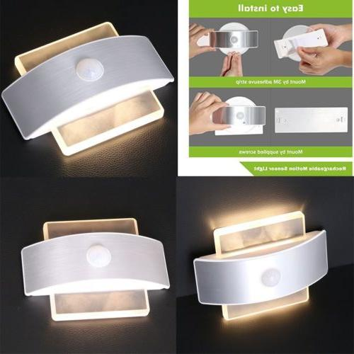 motion sensor activated 14 led wall sconce