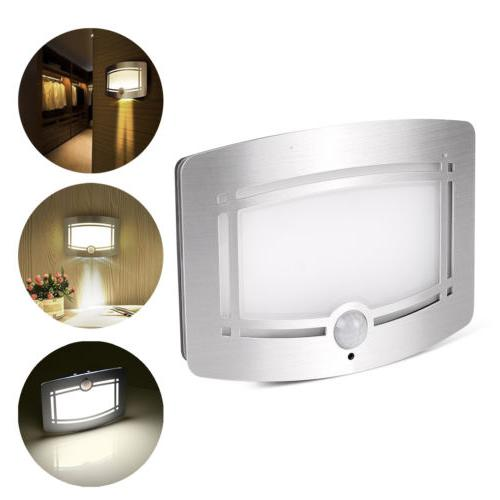motion sensor activated led wall sconce battery