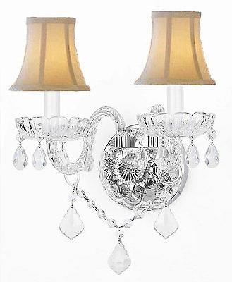 MURANO VENETIAN STYLE CRYSTAL WALL SCONCE LIGHTING WITH WHIT