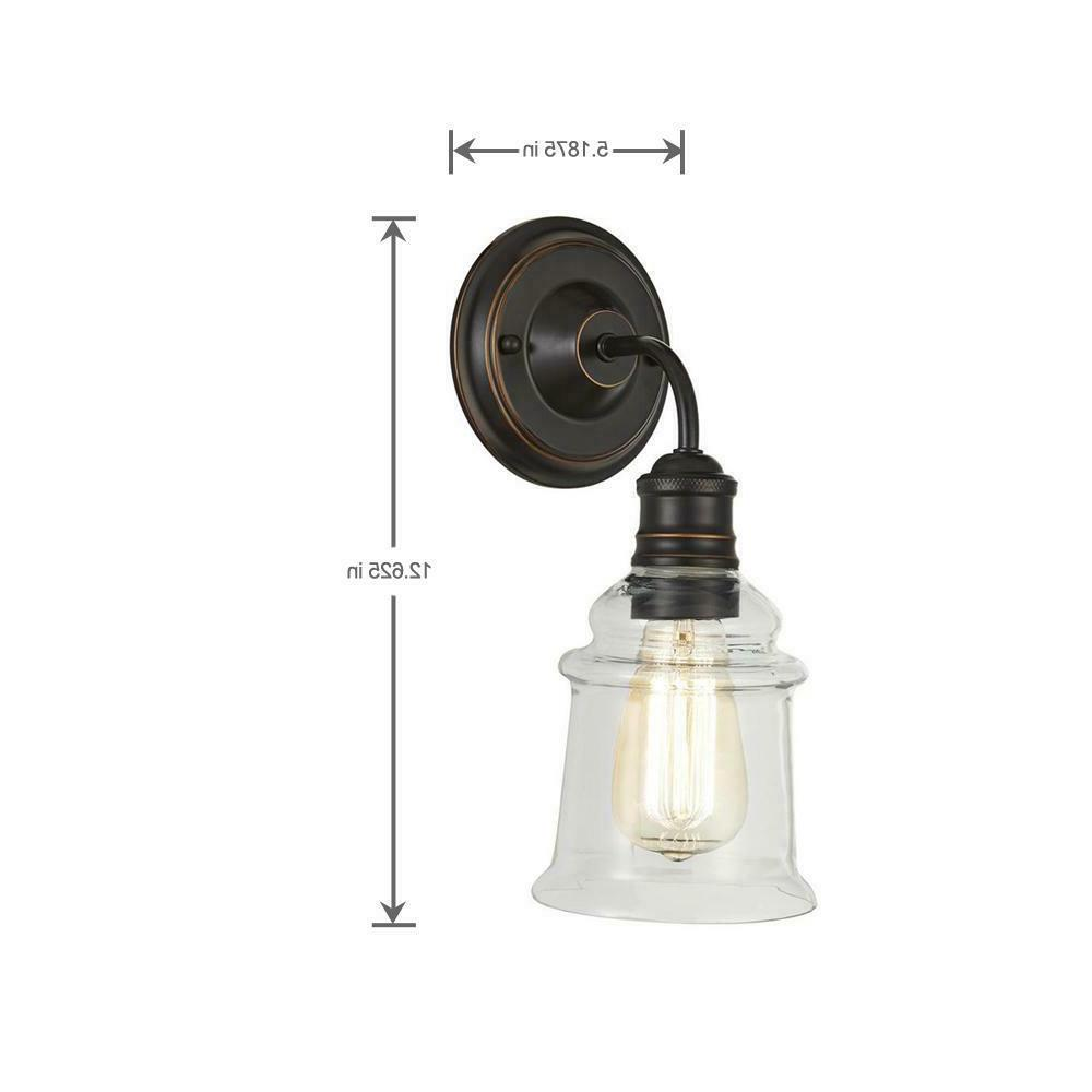NEW!! HOME 1-Light Antique with Clear Glass