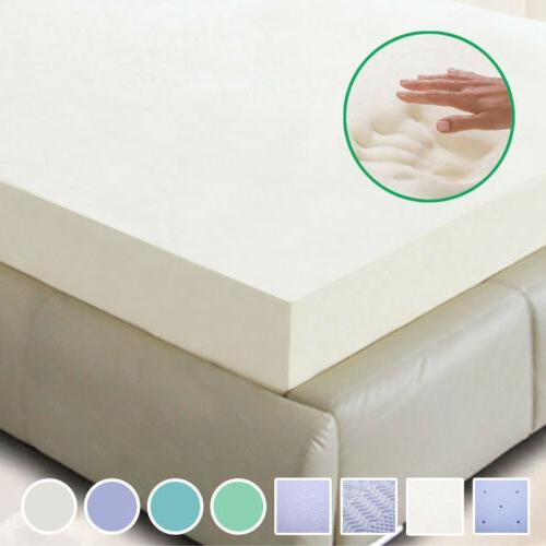 "New 5.5 COMFORT 2"" 3"" 4"" TWIN, FULL, QUEEN, KING MEMORY FOAM"