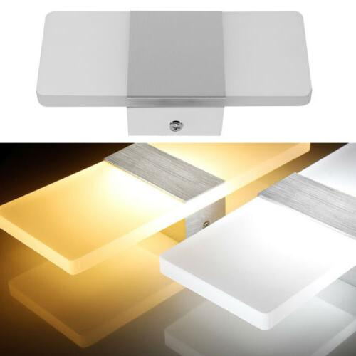 New Modern Wall Lamp Up Cube Indoor Outdoor LED Sconce Light Lighting Home
