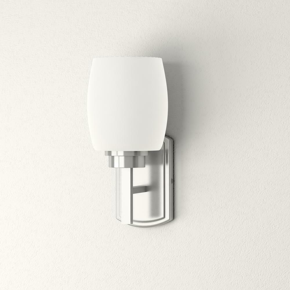 new tamworth brushed nickel wall sconce frost