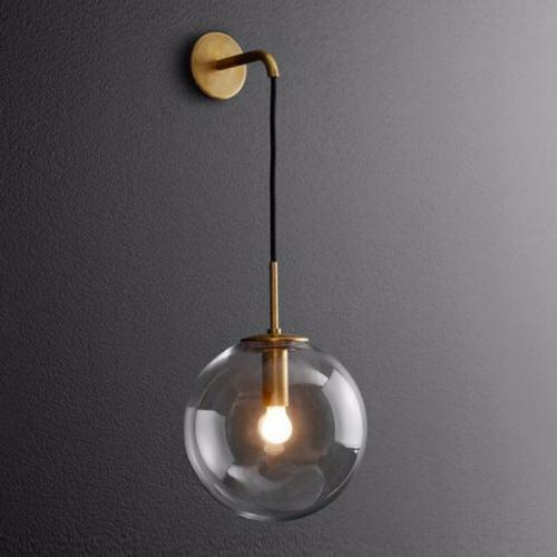 nordic modern hanging wall sconce single suspender