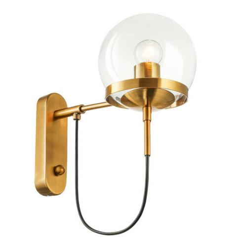 Nordic Globe Wall Sconce Retro Wall Light for Bedroom