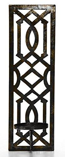 "Hosley 16.5"" High Oil Bronze Finish Metal Wall Sconce. Great"
