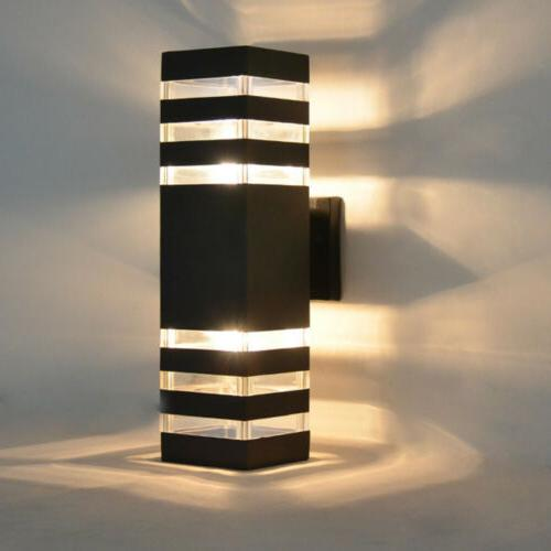 Outdoor Exterior Light Sconce Down Dual Lamp
