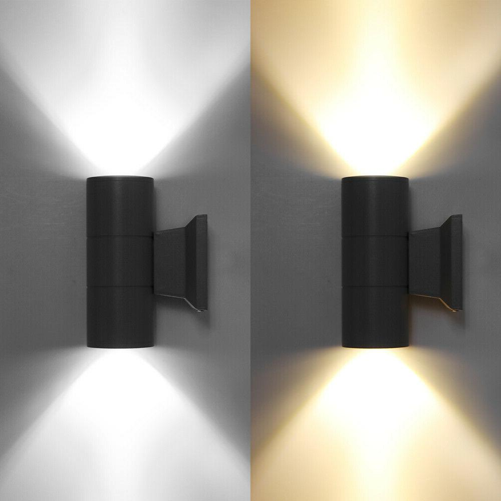 COB LED Wall Sconce Waterproof Down Double Lamp 85-265V