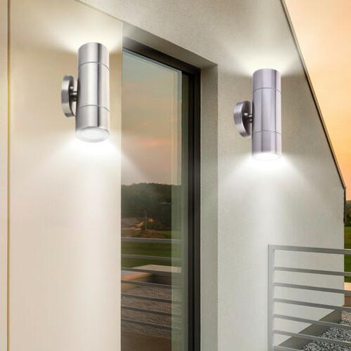 Outdoor Light Up Down Steel Sconce Lamp