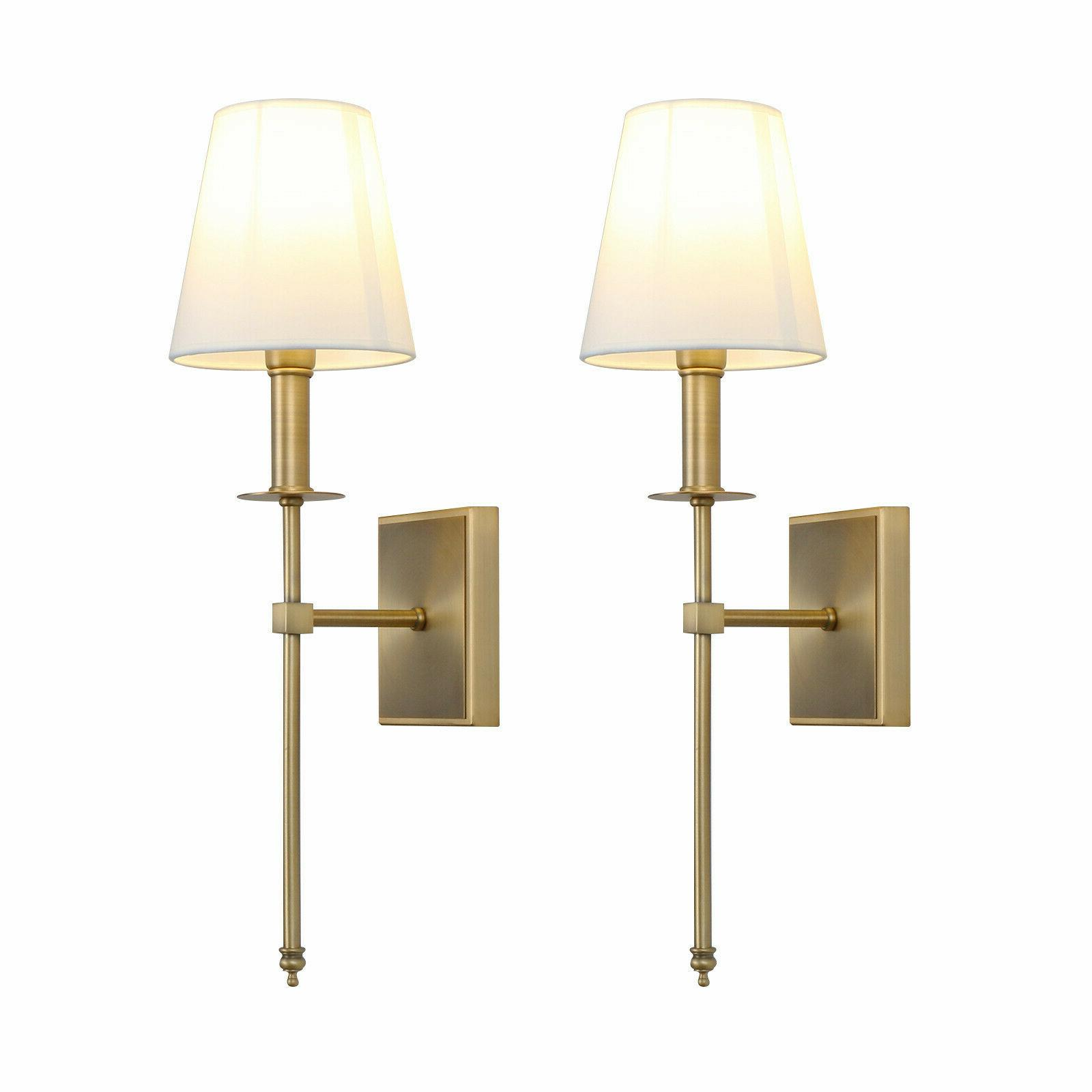 pair modern industrial edison bedside antique wall