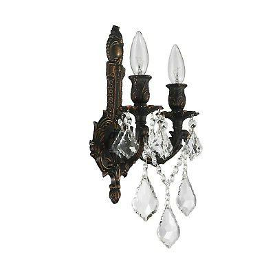 """Pair of x 13"""" Brass Finish Wall Sconce"""