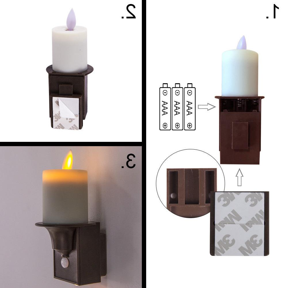 PIR Lights Dancing Flame Candle Design Sconce of 2