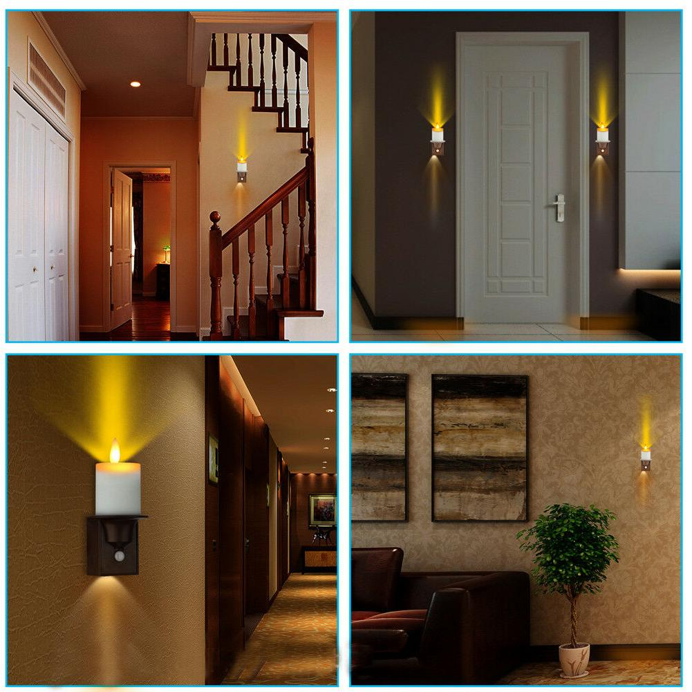 PIR Motion Lights Dancing Flame Candle Design Wall Sconce of