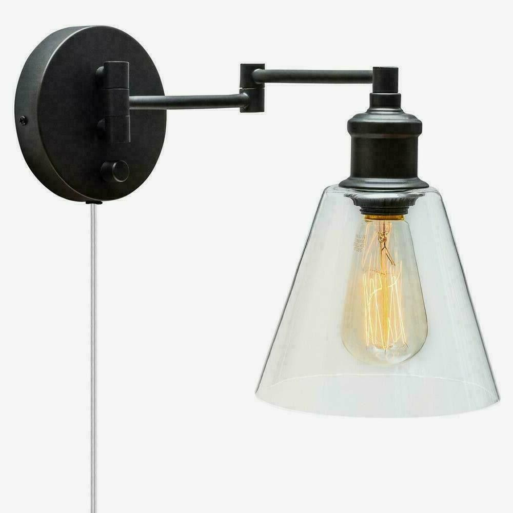 plug wall sconce mount industrial