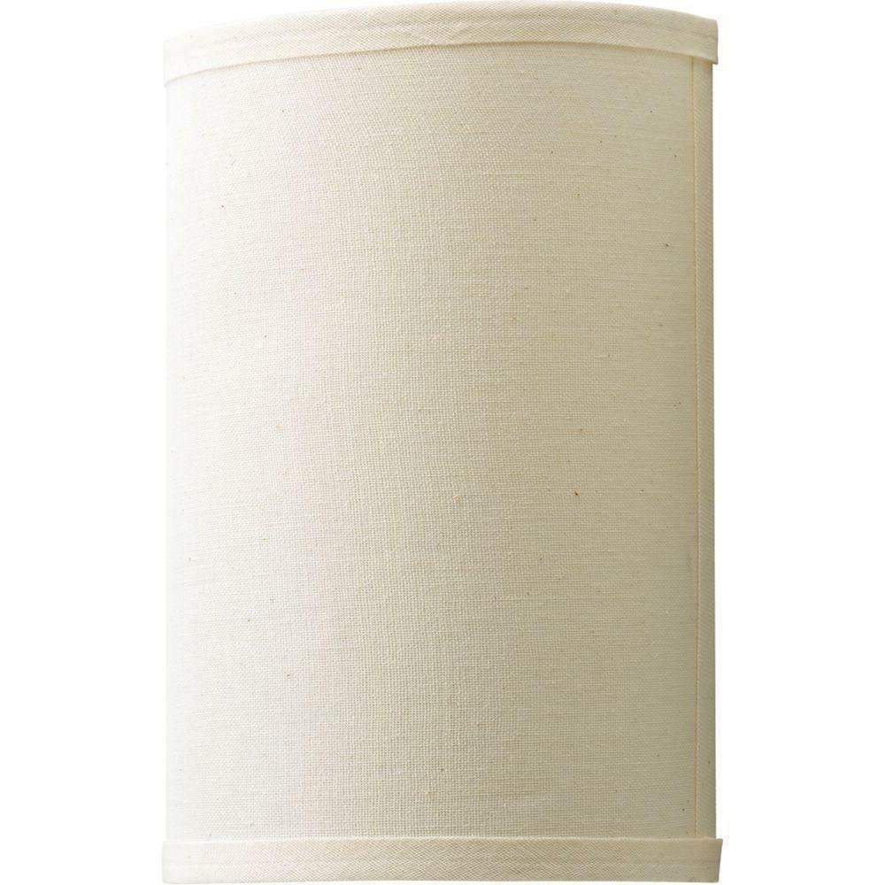 Pocket Wall Sconce White / Beige Shade 1-Light Casual