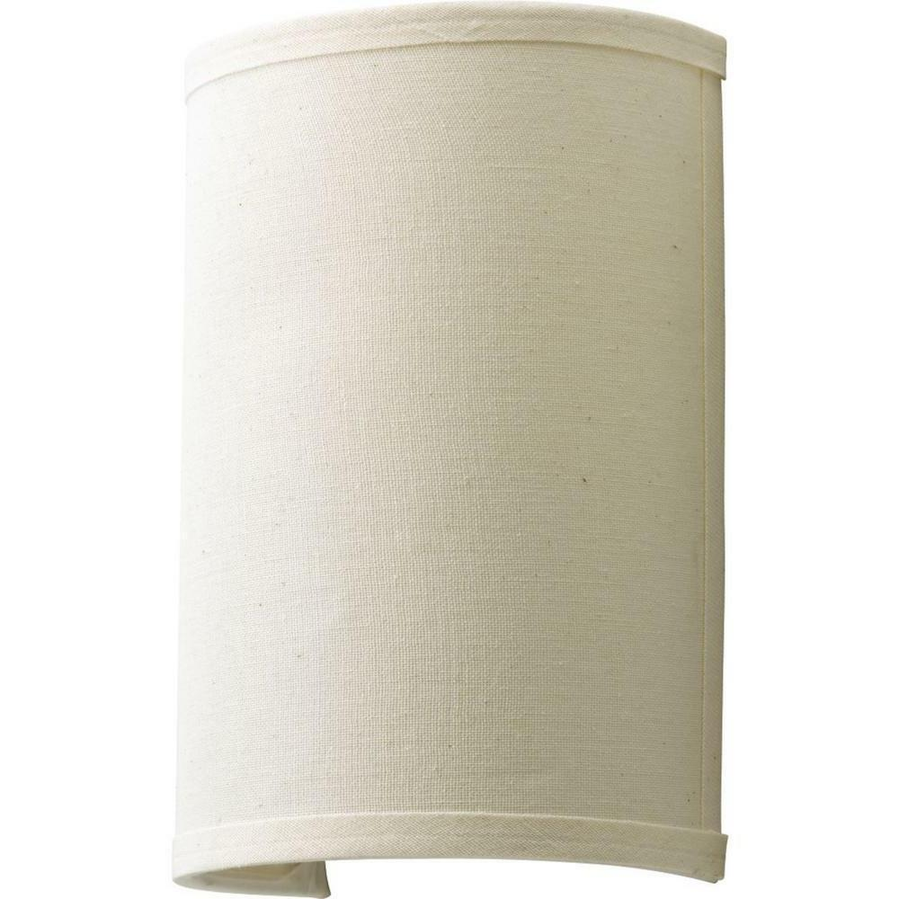 pocket wall sconce off beige linen shade