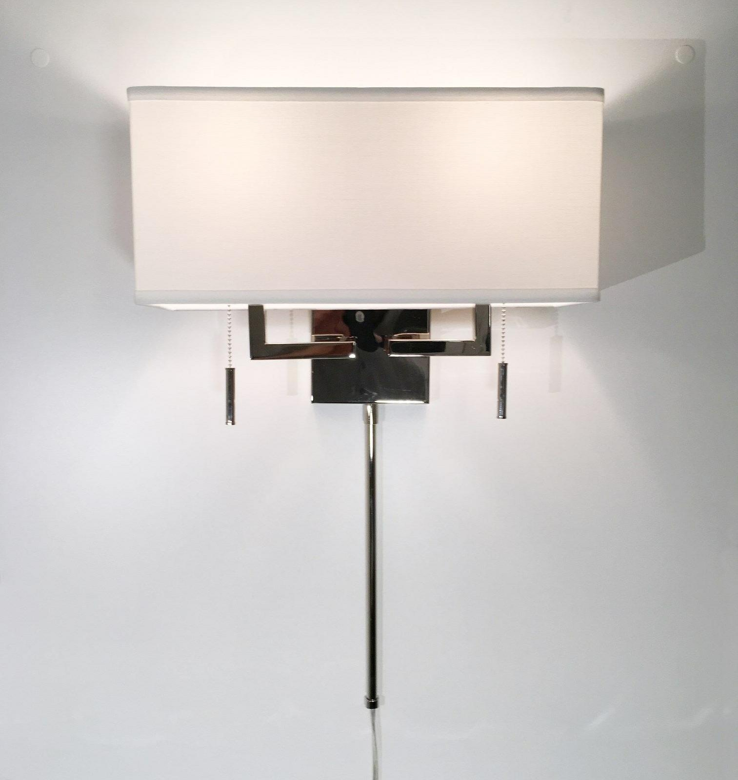 Polished Modern Sconce Light with Hardwire