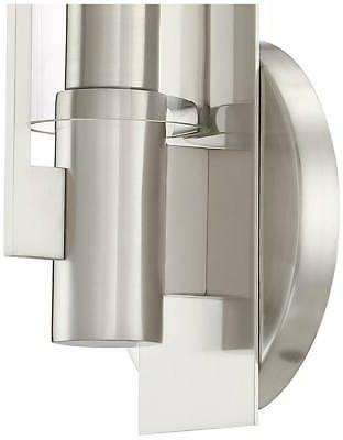 Possini Pax High Brushed Sconce