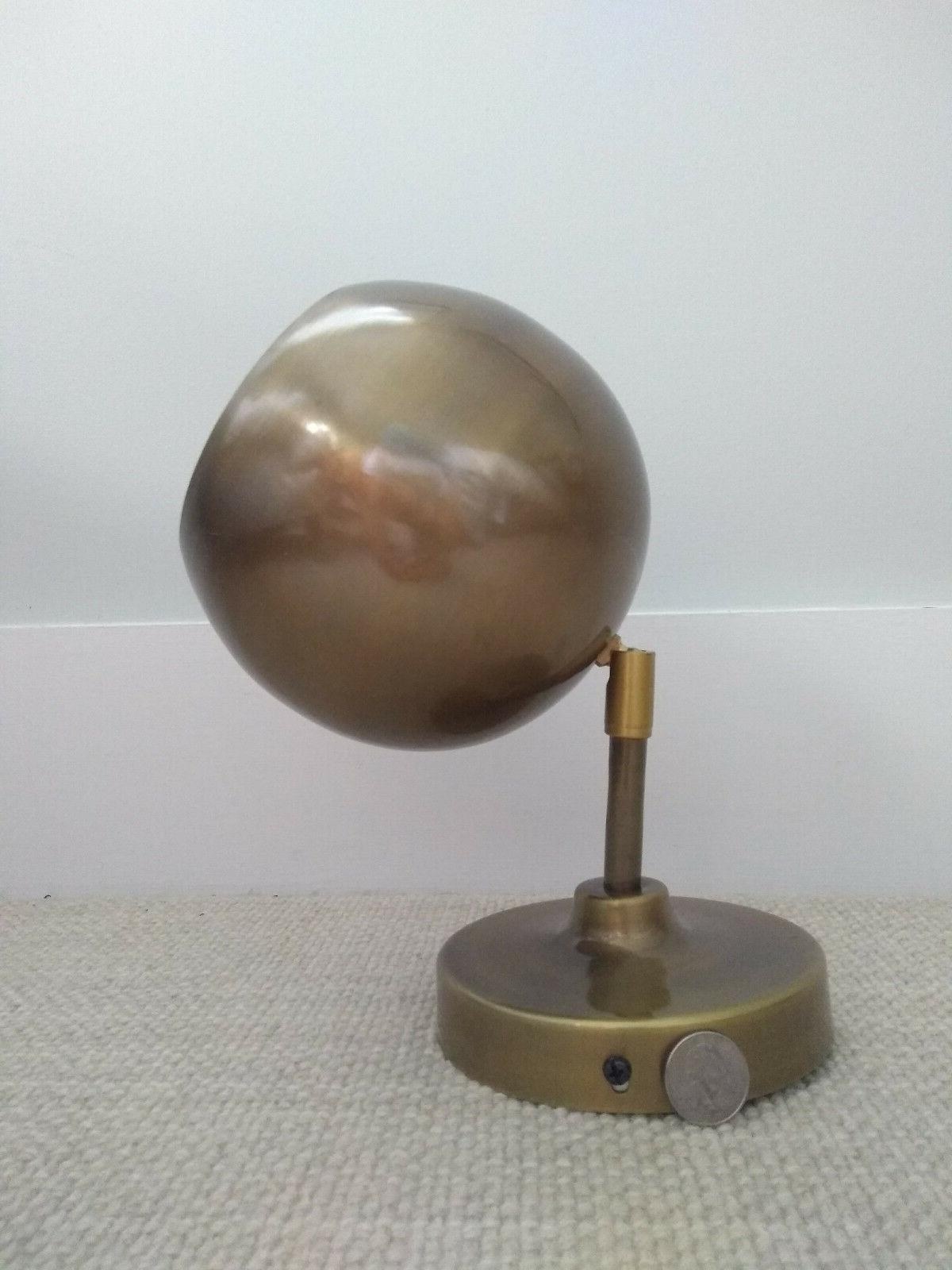 Retro Brass Globe Wall Sconce Lamp - new - hard wired
