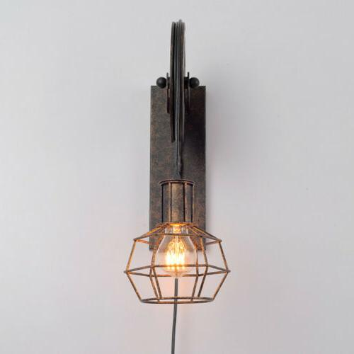 Retro Single Wall Sconce Edison Lift Pulley