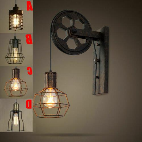retro industrial single light wall sconce edison