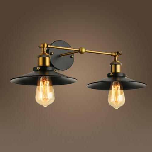 retro industrial wall sconce vintage double light