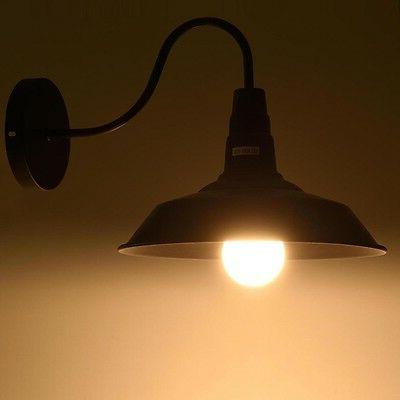 Retro Light Sconce Metal Shade