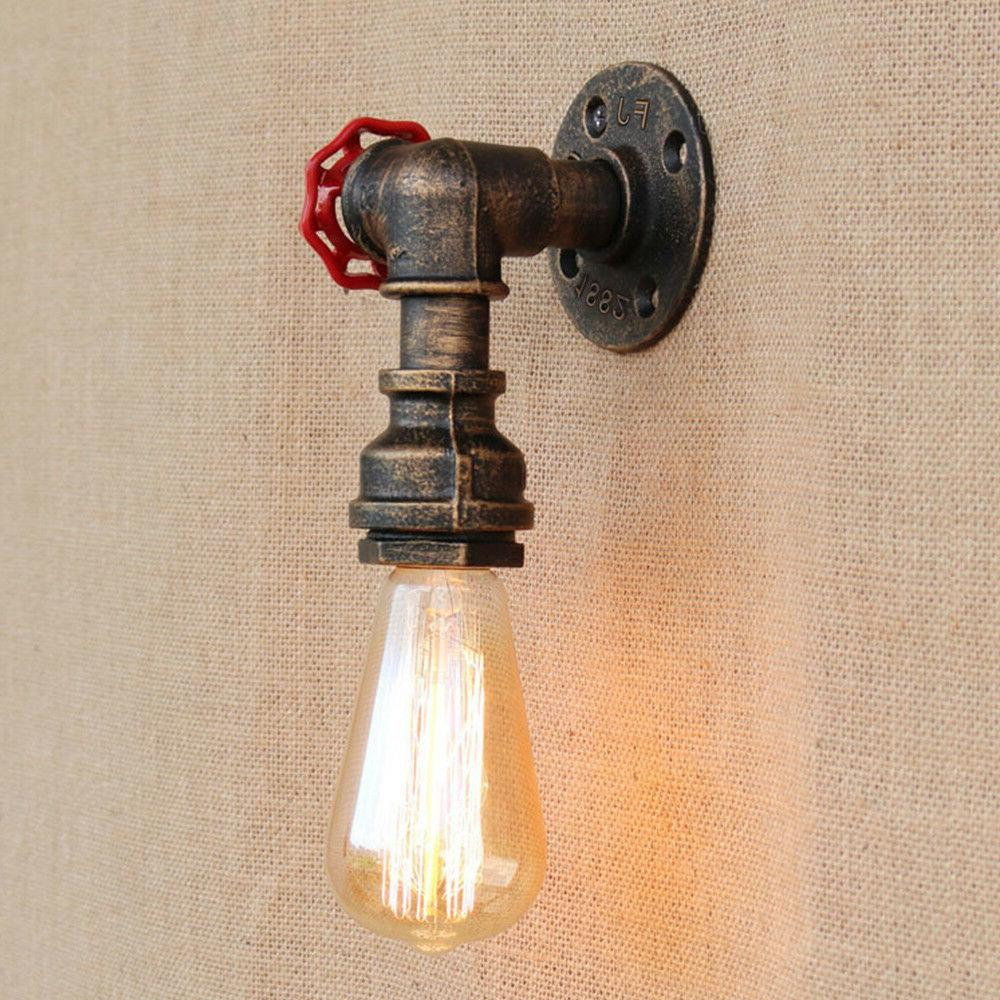 Retro Water Pipe Lamp Faucet Sconce