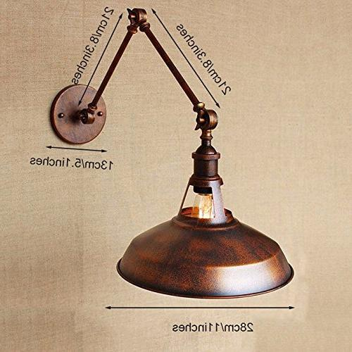 rustic industrial wall sconces lamp