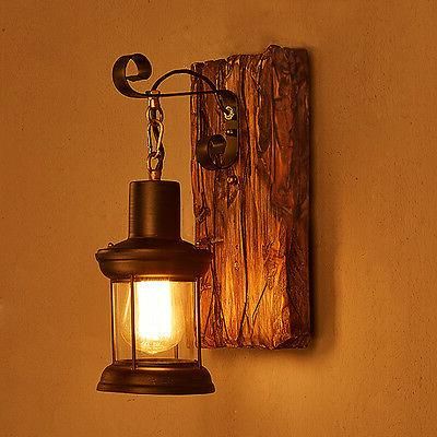 Rustic/Lodge Metal Wall light 110V
