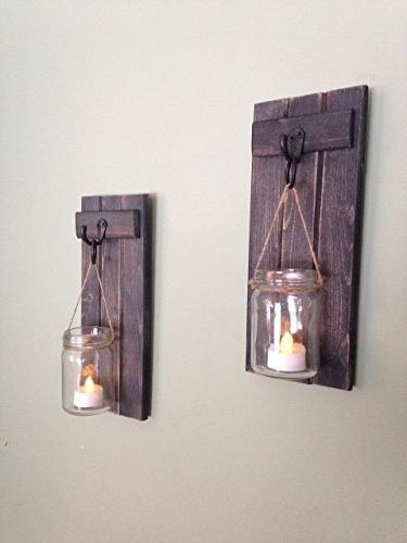 Rustic Decor, Sconce, Rustic Candle Holder, Candle Holder, Of Weathered Black!