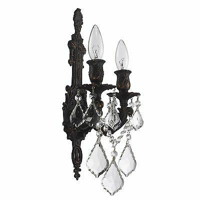 """SALE Light Dark Bronze Wall Sconce Candle W12""""xH13"""""""