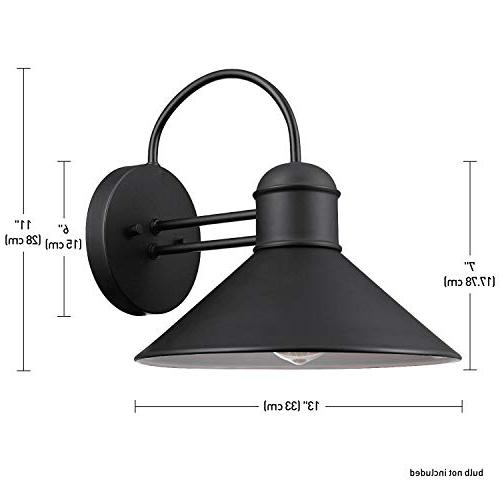 Globe Electric 44165 Outdoor Wall Black Finish, 2-Pack