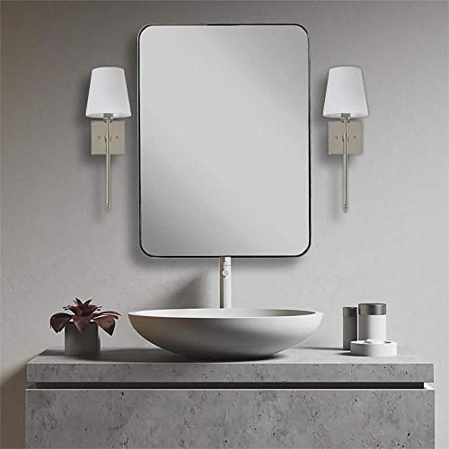 Single Extended Wall Light Fabric Shade Nickel Vanity Sconce with LED Interior Lighting