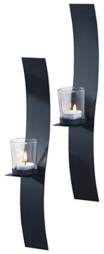 "ArtMaison.ca 2x15 Sleek, Metal with Glass Wall Sconce  2"" x"