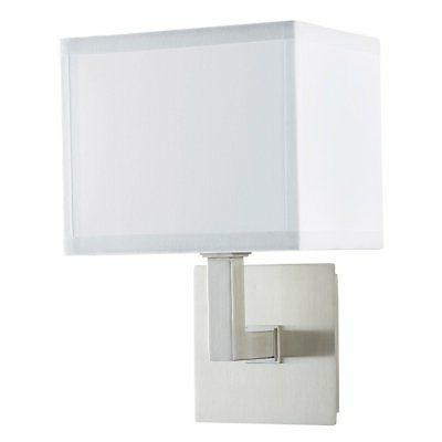 sofia wall sconce light brushed nickel w