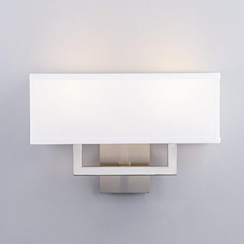 Linea Wall Sconce Lamp Brushed Nickel with