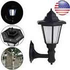 Solar Powered LED Wall Light Sconce Fixture Outdoor Garden P