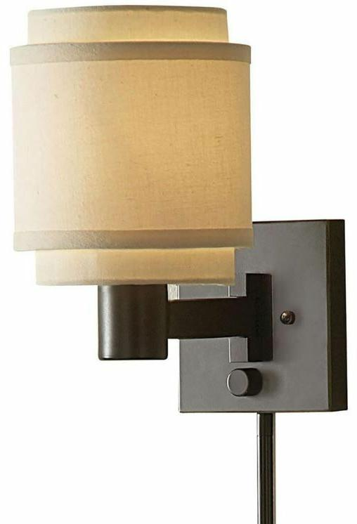 Swing Arm Lamp Wall Mount Bedroom Light Accent Sconce Layere