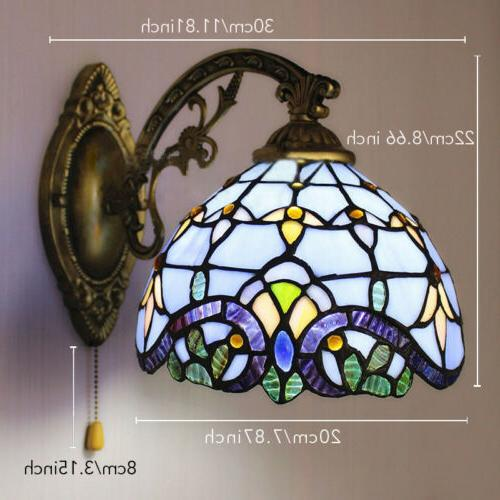 Tiffany Baroque Stained Lamp Fixture